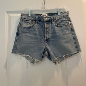 New Agolde Mid Rise Jean Shorts Medium/Light Wash